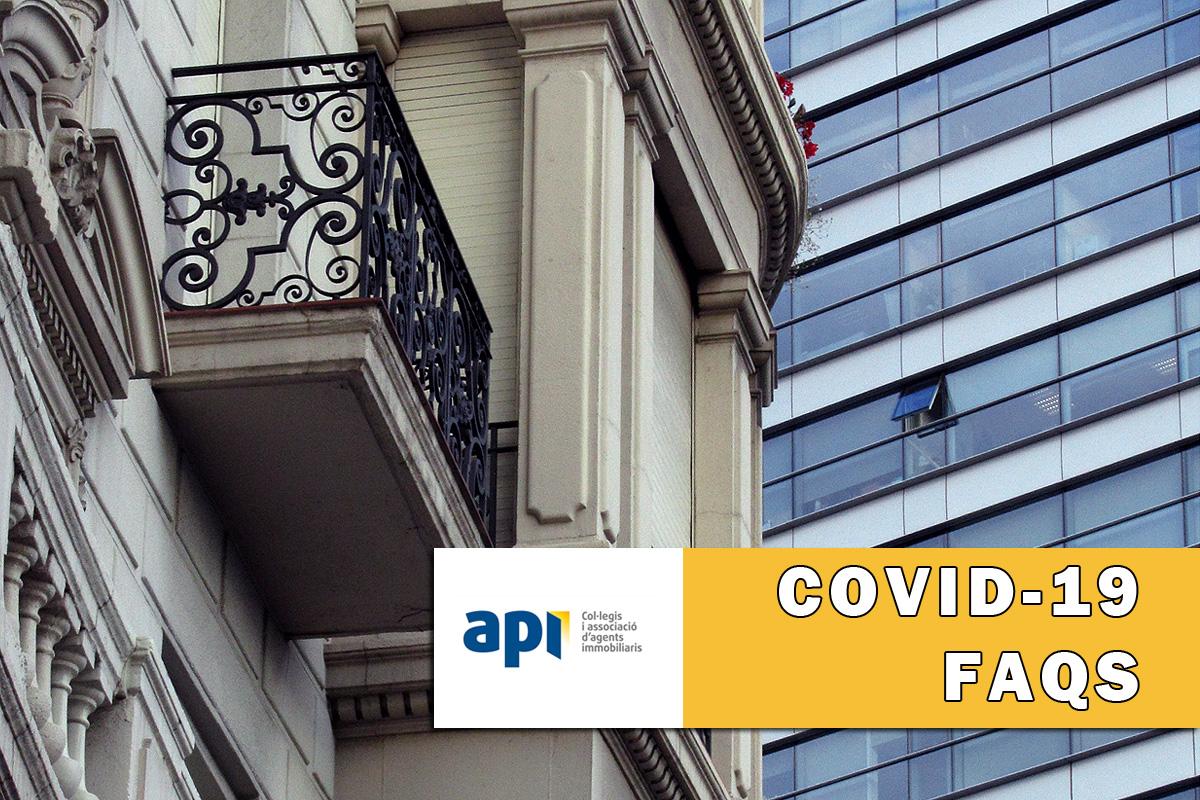 Covid-19 i l'activitat en el sector immobiliari